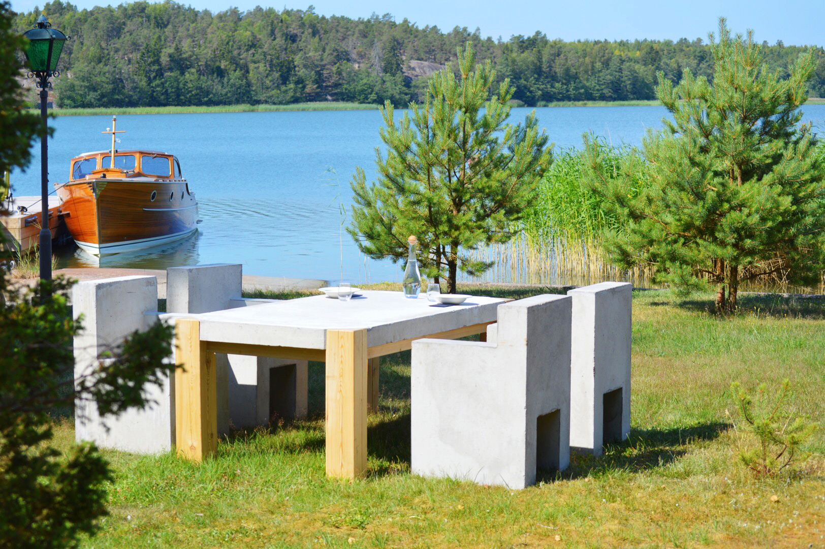 PALA concrete furniture by the sea